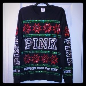Pink VS Christmas shirt